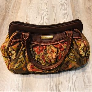 ISABELLA FIORE Tapestry Floral Purse Bag
